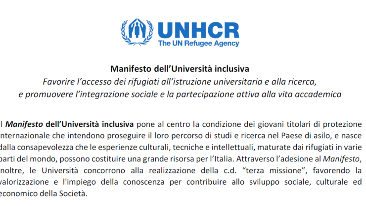 Manifesto dell'Università Inclusiva